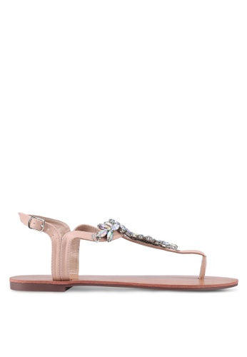 Dorothy Perkins pink Pink Fabrice Diamante Sandals 7DBE1SHA598152GS_1