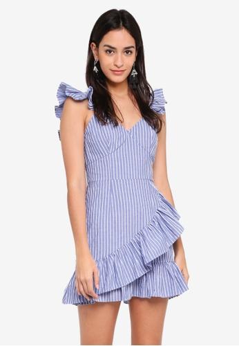 The Fifth Label blue Parcel Stripe Dress A09FCAA771E97FGS_1