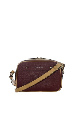 Renoma brown and red Irene Crossbody Bag 1114FAC1CCD372GS_1