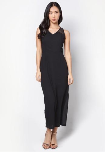 網紗拼接連身長裙, 服飾zalora退貨, 洋裝