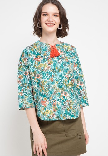 Triset Ladies green and multi Cordelia B38CDAAA2A2581GS_1