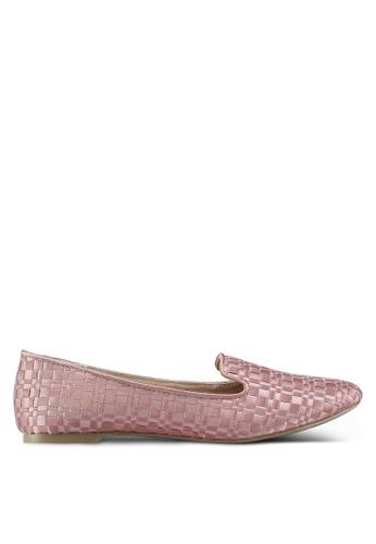 TOPSHOP 粉紅色 Sasha Woven Slippers 3B4D9SH17C9707GS_1