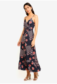 c897246a4a31 MDSCollections multi Rosellia Maxi Dress In Navy Floral B9CA1AAECF7D87GS 1
