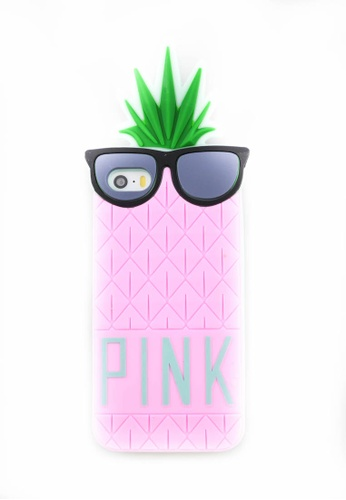 Fancy Cellphone Cases pink Pineapple Rubber Case for Iphone 5/5s/SE FA644AC0JCSGPH_1