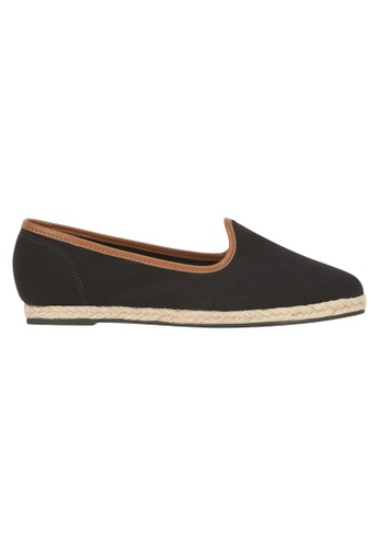 Beira Rio black Solid Color Pointed Casual Slip On BE995SH73ESSHK_1