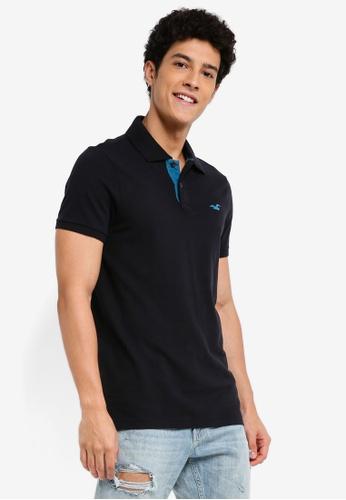 Hollister black Pop Colour Polo Shirt E132FAAAAC27ABGS_1