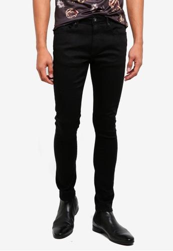 River Island black Super Skinny Pumba Black Jeans 4DD12AA34AE45BGS_1