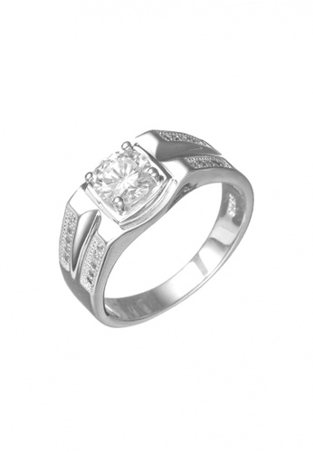 Elfi silver Elfi 925 Genuine Silver Engagement Ring R18 - The Silver Knight EL186AC74TQZMY_1