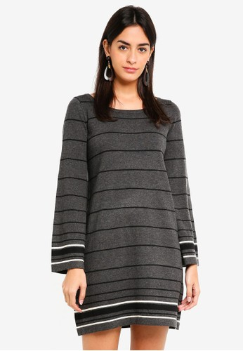 Max Studio black Knit Crew Neck Dress 767CAAAC2A90D6GS_1