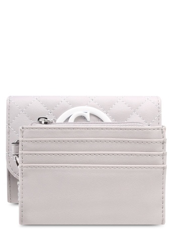 Guess grey G Lux Sling Double Date Purse 67BBCAC0272F5CGS_1