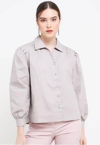 Benang Jarum grey Chloe Shirt 344AEAA9E7D4D0GS_1