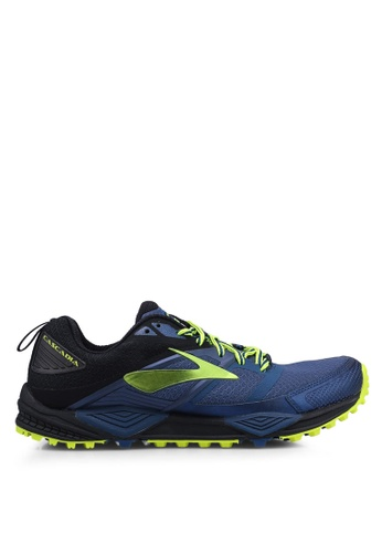 Brooks blue Cascadia 12 Shoes F29FDSH0125A59GS_1