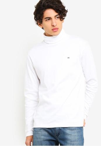 Calvin Klein 白色 CK LOGOTurtle Neck 長袖- Calvin Klein 牛仔褲 7F1BCAAD4C113BGS_1