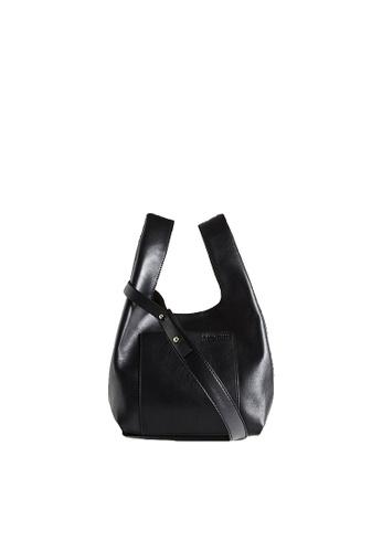 """LINGWU black LINGWU Le Sac Black 8"""" shoulder bag FDDCAACB7AE71AGS_1"""