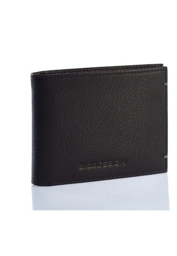 ENZODESIGN black and green Ultra Soft Cow Nappa Leather Slim Wallet EN357AC0HAYGSG_1