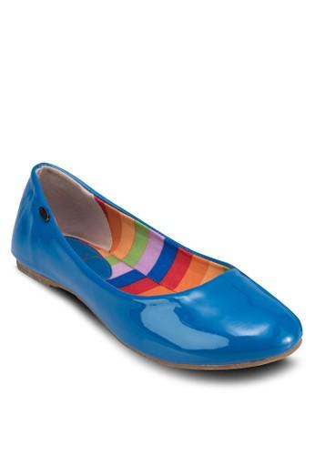 經典漆面圓頭平esprit sg底鞋, 女鞋, 芭蕾平底鞋