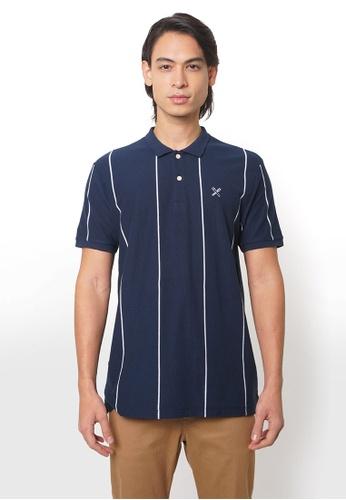 REGATTA blue Polo Shirt In Vertical Stripes B3E45AAB08EA38GS_1