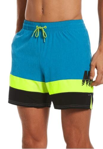 "Nike blue Nike Swim Men's Sunset Logo Vital 5"" Volley Short 673F8USD10ACF4GS_1"