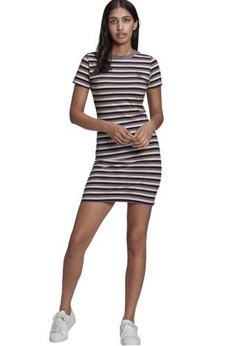 ADIDAS black striped dress B87ABAAE52B7F7GS_1