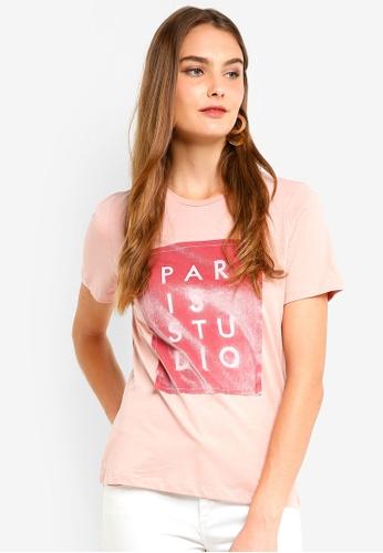 ICHI pink Parisa Top 6B263AAA067586GS_1