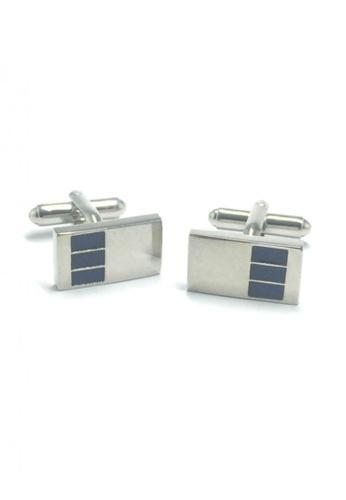 Splice Cufflinks silver 3 Rectangles Pattern Rectangular Cufflinks  SP744AC73EMCSG_1