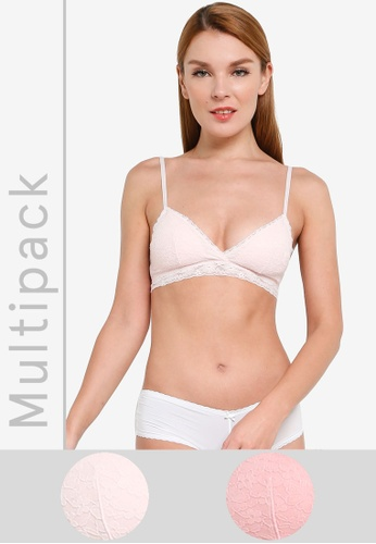 H&M pink 2-Pack Soft Padded Bra 0AD2AUSAA17682GS_1