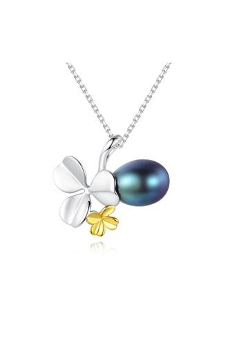 SUNRAIS silver High-grade colored stone silver fashion necklace EB108AC1207C04GS_1