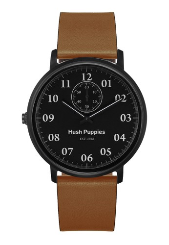 Hush Puppies Watches black and brown Hush Puppies 1958 Men's Watch HP 3854M.2502 Black Brown Leather HU334AC0UHK1ID_1