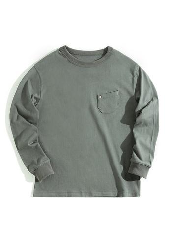 Twenty Eight Shoes grey VANSA Solid Color Long Sleeve Tee Shirt VCM-T2007172 825A9AACDFAB6DGS_1