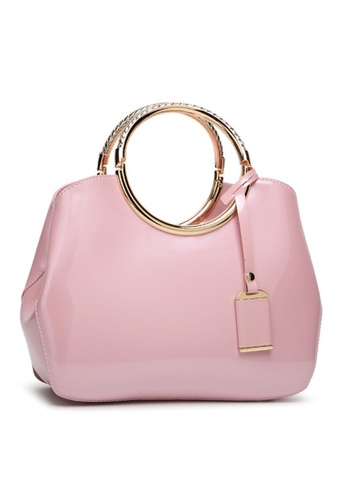 Twenty Eight Shoes pink VANSA Classic Patent Leather Hand Bag VBW-Hb301 FFBA9AC940CB60GS_1