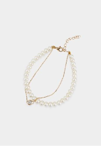 monojewelry DOUBLE SPARKLE PEARL BRACELET 3AAF1AC9D08F2AGS_1