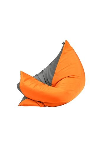 doob grey and orange and multi PLOPSTA' - versatile spill-proof doob bean bag (Ash Mandarin) EB7BFHL404041FGS_1