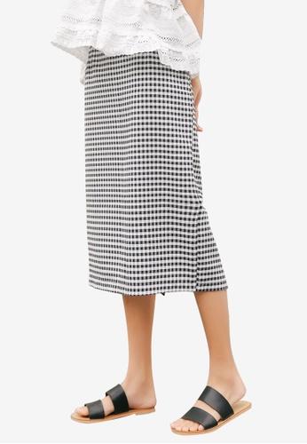 Shopsfashion black Checked Midi Skirt A5B69AA1280220GS_1