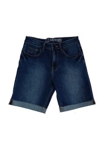 Juice Ematic blue Juice Ematic Celana pendek denim wanita Biru SNAP HIGH RISE PANTS A808AAA2B20E81GS_1