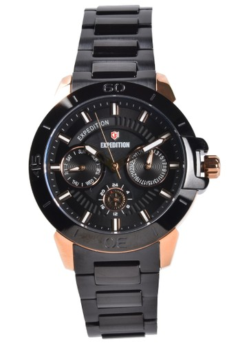 Expedition black Expedition - Jam Tangan Wanita - Rosegold - Black Stainless Steel - 6758BFBBRBA DD713AC7AA9DF9GS_1