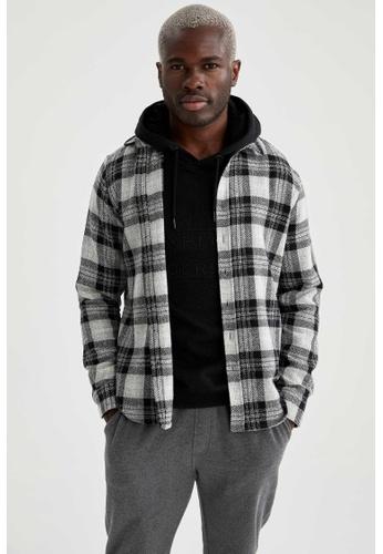 DeFacto grey Long Sleeve Shirt D7903AAB0477C0GS_1