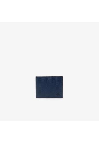 Lacoste navy Men's Chantaco Piqué Leather 3 Card Wallet E1C8EAC0309D81GS_1