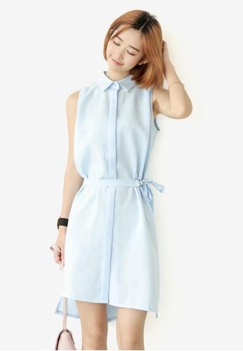 Daisy 無袖及膝喇叭連身裙, 服飾esprit官網, 洋裝