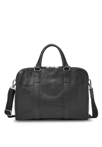 Fossil black Fossil Mayfair Black Leather Workbag MBG9031001 FO164AC0SAQGMY_1