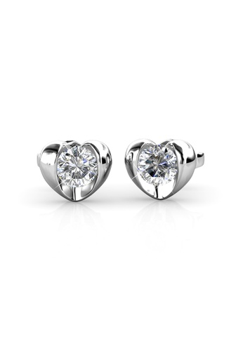 Her Jewellery silver Swarovski® Crystals - Simply Love Earrings (18K White Gold Plated) Her Jewellery HE581AC0RADRMY_1