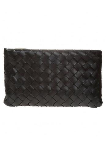 BOTTEGA VENETA black Bottega Veneta Medium Zipped Clutch Bag in Black 27FF3AC16F6896GS_1