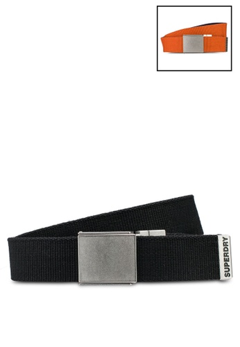 SUPERDRY black Exclusive: Back By Demand - Reversible Canvas Belt 929EBACB038D91GS_1