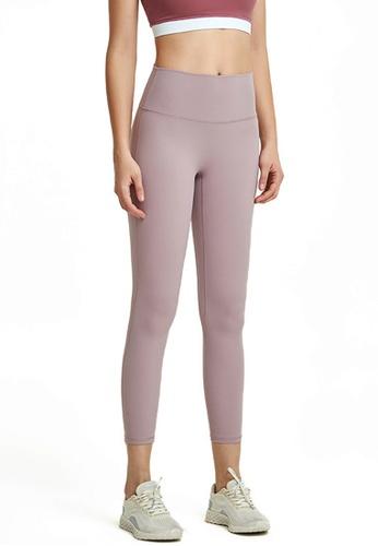B-Code purple ZWG1103a-Lady Quick Drying Running Fitness Yoga Leggings-Purple BC335AA15BC51EGS_1