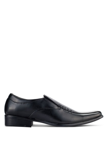 UniqTee black Slip On Oxford Shoes UN097SH94NQFMY_1