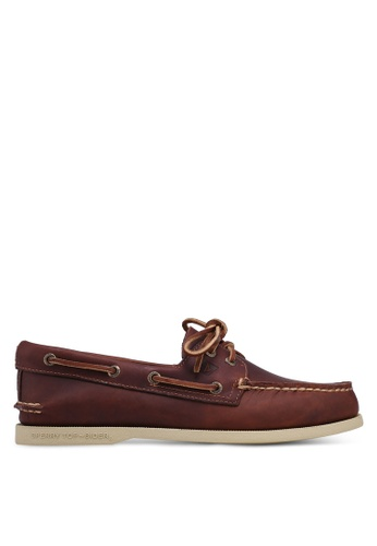 Sperry brown Authentic Original 2-Eye Pull Up Boat Shoes 27903SHE97C01FGS_1