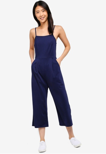 ZALORA BASICS navy Basic Cami Jumpsuit 225FCAA8464819GS_1