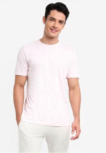 Topman pink Pink Slim Fit T-Shirt 03DC3AAE55A841GS_1