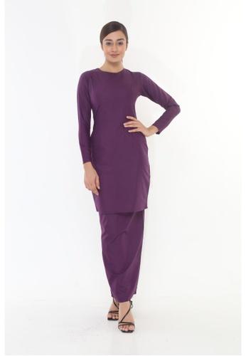 Amar Amran purple Baju Kurung Moden Qasandra 3F229AAD866D37GS_1