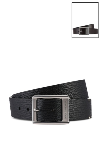 Calvin Klein black and brown Clean Reversible Belt 38mm - Calvin Klein Jeans Accessories 82104AC9E5B8E9GS_1