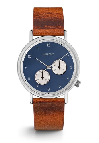 KOMONO brown Walther Cognac Watch KO163AC0T0TYMY_1